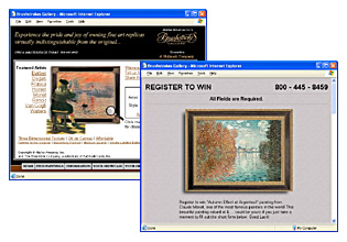 Brushstrokes Gallery Website