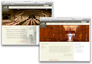 Robert Mondavi Wines Website